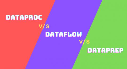 Dataproc vs Dataflow vs Dataprep